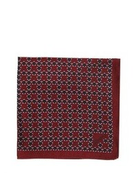 Z Zegna Printed Silk Pocket Square