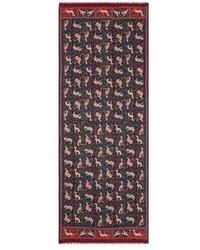 Drakes Drake S Medieval Print Wool Silk Scarf