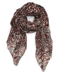 Saint Laurent Jaguar Print Wool Scarf