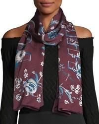Printed woven jacquard stole medium 4380919