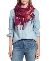 Nordstrom Tissue Print Wool Cashmere Wrap Scarf