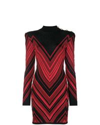 Balmain Chevron Dress