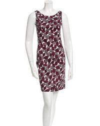 Marc Jacobs Leaf Print Sleeveless Dress