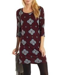 Printed shift t shirt dress medium 375477