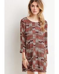 Tribal print shift dress medium 375478