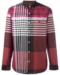 Men s Burgundy Shirts by Burberry  b5abe6cdf