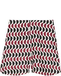 Printed sateen twill shorts medium 72971