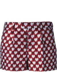 RED Valentino Heart Print Shorts