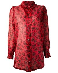 Christian lacroix vintage paisley heart blouse medium 9511