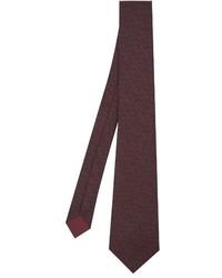 Bottega Veneta Intrecciato Print Silk Tie