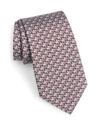 Salvatore Ferragamo Magda Zebra Print Silk Tie