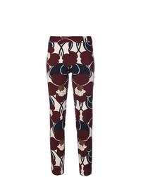Skinny floral print trousers medium 8028964