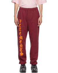 Vetements Red Anarchy Gothic Logo Lounge Pants