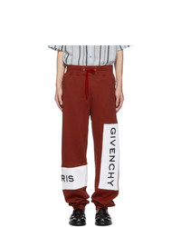 Givenchy Red Cotton Logo Lounge Pants