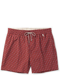 Loro Piana Slim Fit Mid Length Printed Swim Shorts