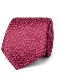 Charvet 75cm Silk And Linen Blend Jacquard Tie