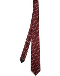 Lanvin Bird Print Silk Tie