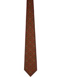 Casablanca Burgundy Satin Monogram Tie