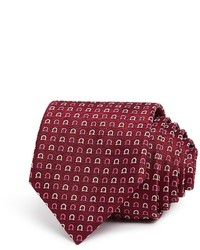 Salvatore Ferragamo Jacquard Gancini Dot Classic Tie