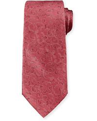 Scroll print tie burgundy medium 641887