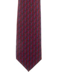 Gucci Silk Horsebit Print Tie