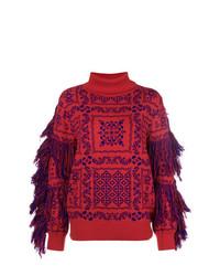 Sacai Fringed Turtleneck Sweater