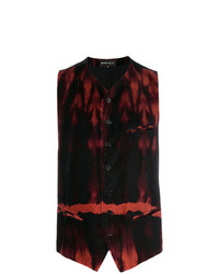 Ann Demeulemeester Dyed Print Waistcoat