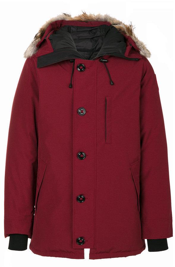 ... Burgundy Puffer Coats Canada Goose Canada Goose hood trim down coat