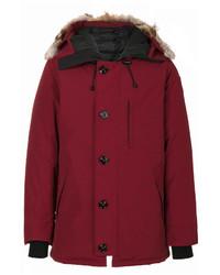 a21cb2db8 Burgundy Puffer Coats for Men | Men's Fashion | Lookastic.com