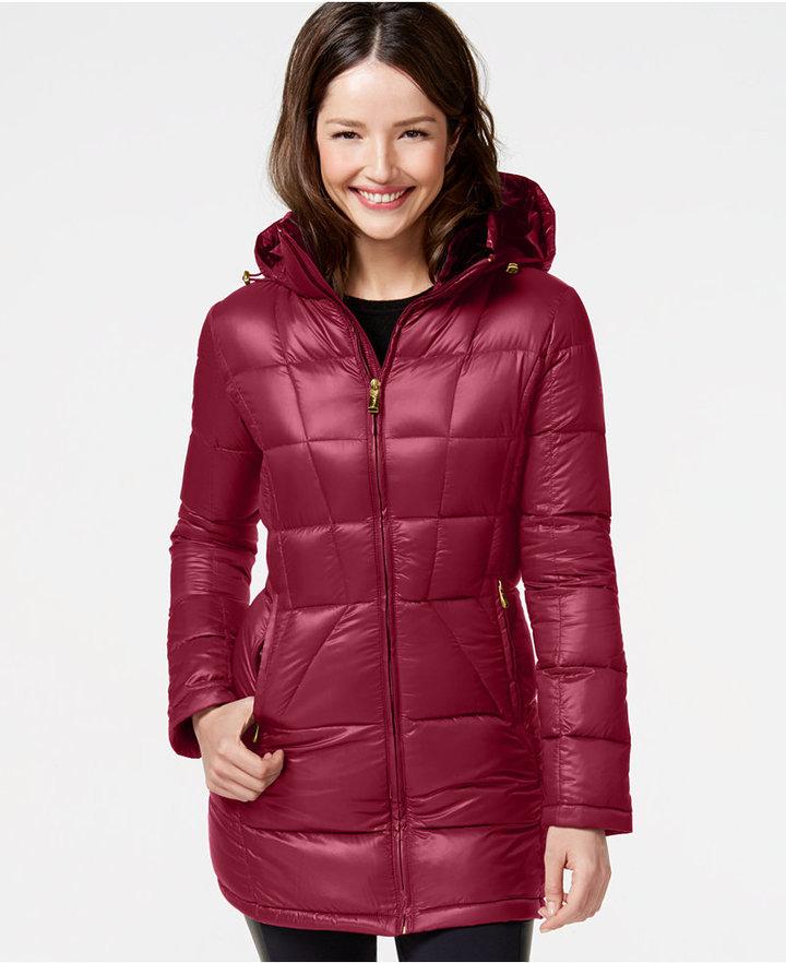 Calvin Klein Hooded Down Packable Puffer Coat,  220   Macy s ... 72c00b7a22