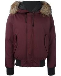 Burgundy Puffer Jacket