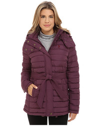 U.S. Polo Assn. Hooded Puffer With Self Tie Belt
