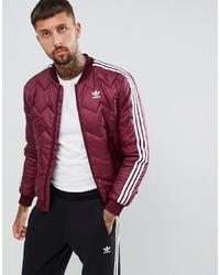 adidas Originals Quilted Jacket In Red Dh5014