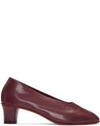 Martiniano Burgundy High Glove Heels