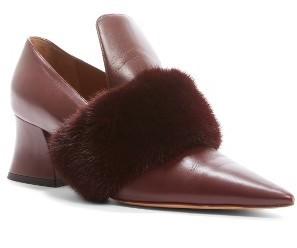 Givenchy Patricia Pump With Genuine Mink Fur Trim