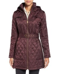 Burgundy Quilted Coat