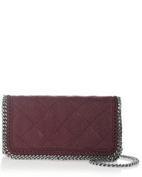 Burgundy Quilted Crossbody Bag