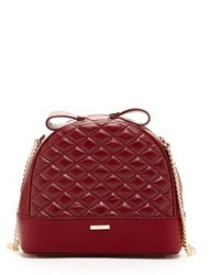 Susu france quilted lambskin crossbody burgundy medium 647569