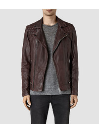 Allsaints conroy leather biker jacket medium 837944
