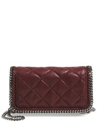 Stella McCartney Falabella Quilted Faux Leather Crossbody Bag Grey