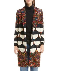 Dries Van Noten Mix Print Quilted Velvet Coat