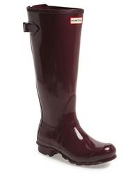Adjustable back gloss rain boot medium 157013