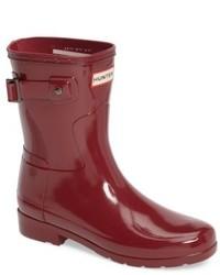 Refined short gloss rain boot medium 5279568