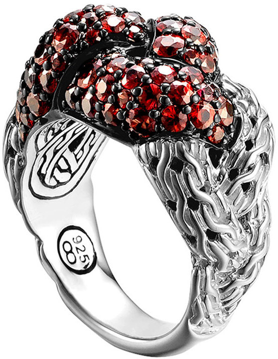John Hardy Classic Chain Silver Large Ring, Size 7