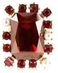 Oscar de la Renta Crystal Embellished Ring