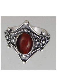 The Silver Dragon The Royal Ring Handcrafted In Sterling Silver And Set With Red Tiger Eye Made In America Size 5 To 12