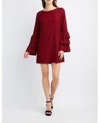 Ruffle sleeve shift dress medium 5026263