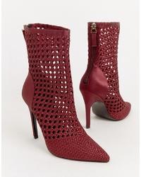 ASOS DESIGN Edel Woven Satin Boots