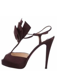 Christian Louboutin Ernesta Bow 120 T Strap Sandals