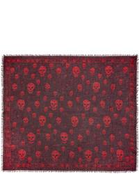 Burgundy f o punk skull scarf medium 3778284